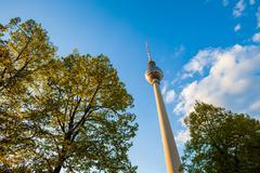 Fernsehturm (TV Tower), Berlin Alexanderplatz Stock Photos
