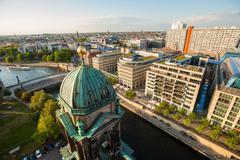 The Berliner Dom, River Spree, and Hackescher Markt Stock Photos