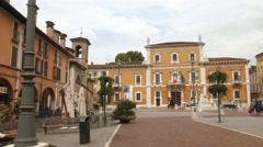 """Brescia – Italy: Market Square, """"Piazza del mercato"""" and Brescia University Stock Footage"""