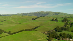 Aerial view of countryside in Mt Diablo State Park California Stock Footage