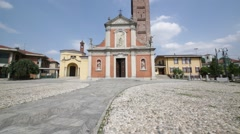 Varano borghi  ancient   religion  building    for catholic and clock tower Stock Footage