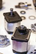 New design of parts for machine - stock photo