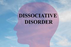 Dissociative Disorder concept - stock illustration