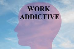 Work Addictive mental concept Stock Illustration