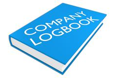 Company Logbook - administrative concept Stock Illustration
