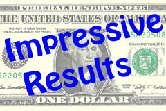 Impressive Results business concept Stock Illustration