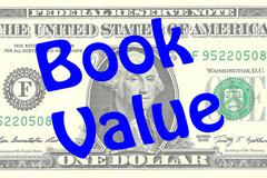Book Value business concept Stock Illustration