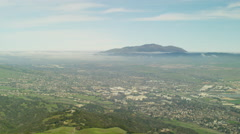 Aerial view of San Ramon and Mt Diablo State Park California Stock Footage