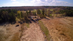 Aerial view of the Lahemma National park Stock Footage
