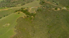 Aerial view overlooking Mt Diablo State Park California Stock Footage