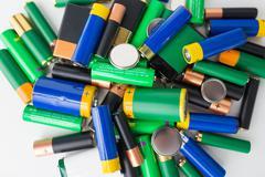 Close up of alkaline batteries Stock Photos