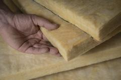 Thermal Insulation, Glass Wool - stock photo