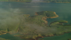Aerial view of Lake Berryessa Napa County California Stock Footage