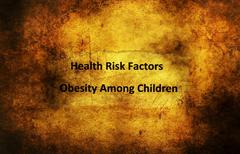 Health risk factors child obesity Stock Illustration