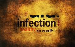 Infection paper hole grunge concept - stock illustration