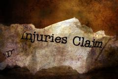Injuries claim paper trash grunge concept - stock illustration