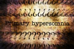 Primary Hypersomnia grunge concept - stock illustration