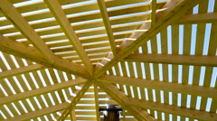 A shed that is made in lath cover Stock Footage