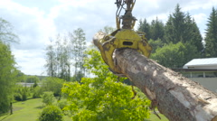The log grapple carrying a log Stock Footage