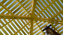 The brown lath on the shed Stock Footage