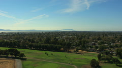 Aerial view Castro Valley golf course San Francisco USA Stock Footage