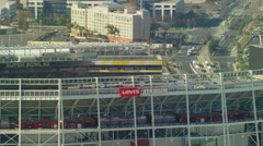 Aerial view of Levi's NFL Sports Stadium San Francisco Stock Footage