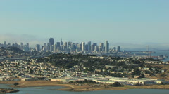 Aerial view of Candlestick Point and city of San Francisco USA Stock Footage