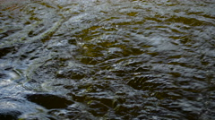 Lots of water running on the drainage Stock Footage