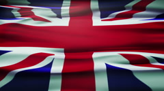 Flag of the United Kingdom Of Great Britain and Northern Ireland, also known as - stock footage