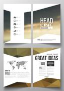 Set of business templates for brochure, magazine, flyer, booklet or annual Stock Illustration