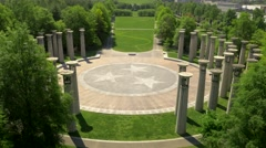 Stunning Aerial of Nashville's Bicentennial Mall and Skyline Stock Footage