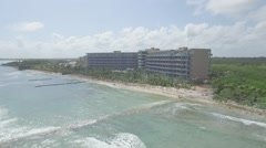 Aerial of Tulum Mexico Resort Pool Tracking to Birdseye - stock footage