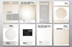 Set of business templates for brochure, flyer or booklet. Abstract polygonal low - stock illustration