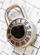 Lock with keyboard. Stock Photos