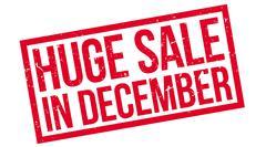 Huge Sale in December Stock Illustration