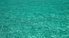Houses over transparent quiet sea water- tropical paradise, Maldives Stock Footage