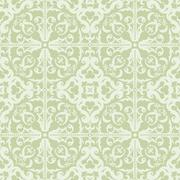 Seamless Abstract Tribal Pattern In Light Desaturated Colors. Hand Drawn Ethn - stock illustration