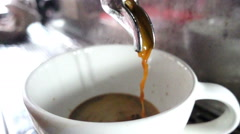 Espresso coffee shot, slow motion Stock Footage