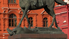 Monument to Marshal Zhukov in Moscow. Stock Footage