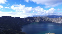 Quilotoa Lake Stock Footage