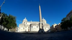 San Giovanni in Laterano, back view Stock Footage