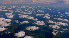 4K Clouds Viewed from Sky Aerial Vantage Point Background - stock footage