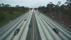 Cool daytime shot of highway traffic Stock Footage