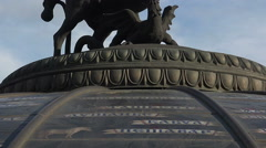 George Victorious. Sculpture at the Manege Square in Moscow. Stock Footage