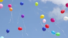 a lot of balloons in the sky - stock footage