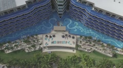 Aerial of Tulum Mexico Resort Pool Rise and Reverse Arkistovideo