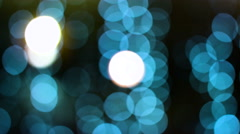 Sparkling and defocused green lights background, bokeh background, abstract Stock Footage
