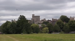 Windsor Castle full view Stock Footage