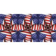 White Background with Usa Flag Pattern Borders - stock illustration