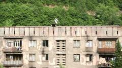 Aerial view of old soviet buildings Stock Footage